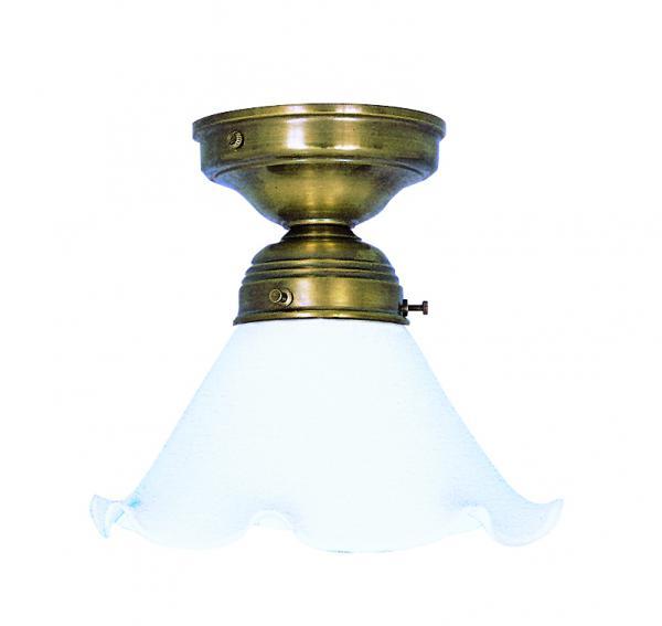 Deckenleuchte - Glasschirm weiß