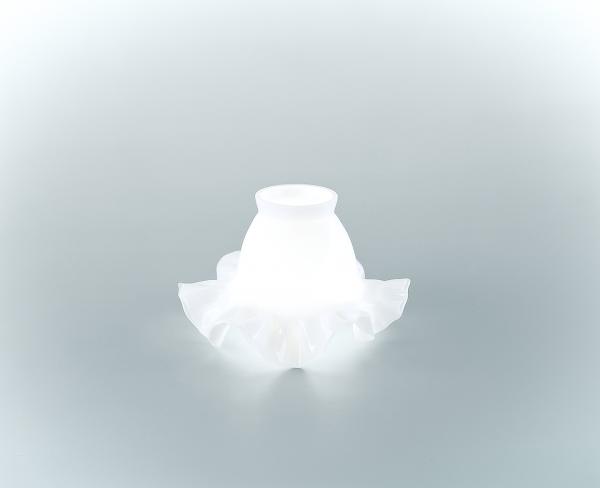 Glasschirm 06op Opalweiß