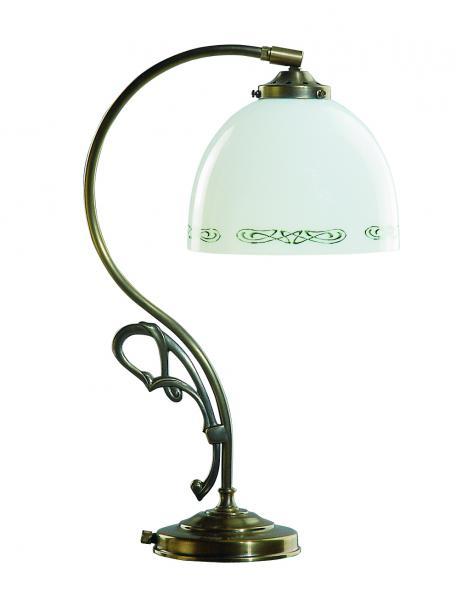 Tischleuchte - Glasschirm weiß-grün