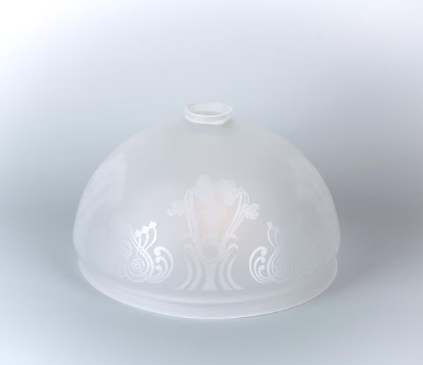 Glasschirm 91 Geätztes Dekor