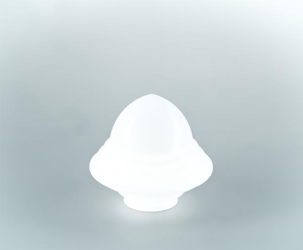 Glasschirm 121 Opalweiß