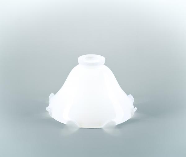 Glasschirm 19 Opalweiß