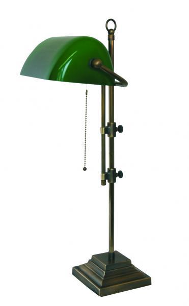 Bankerleuchte - Glasschirm grün