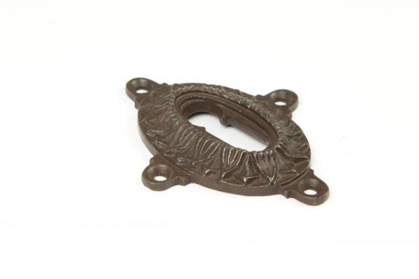Schlüsselrosette Buntbart Eisen antik patiniert