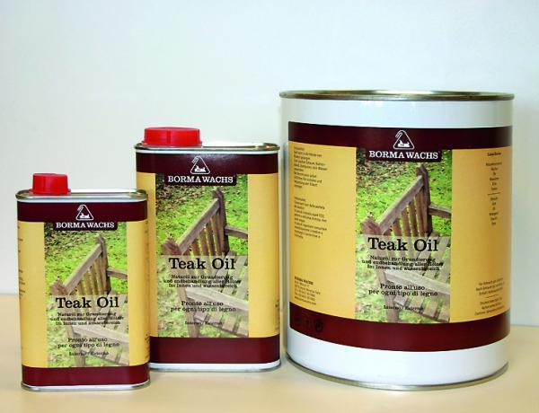 TEAK OIL - Für Innen und Außenbereich - Naturholzeffekt