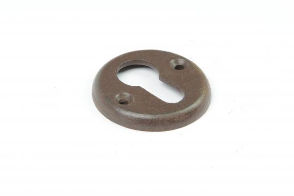 Schlüsselrosette Profilzylinder Eisen antik