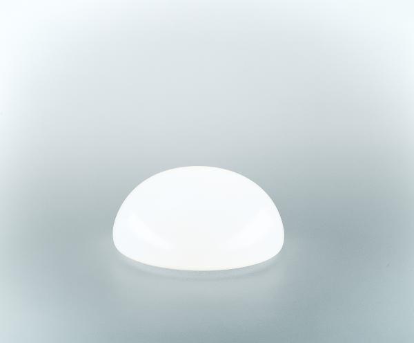 Glasschirm 100 Opalweiß