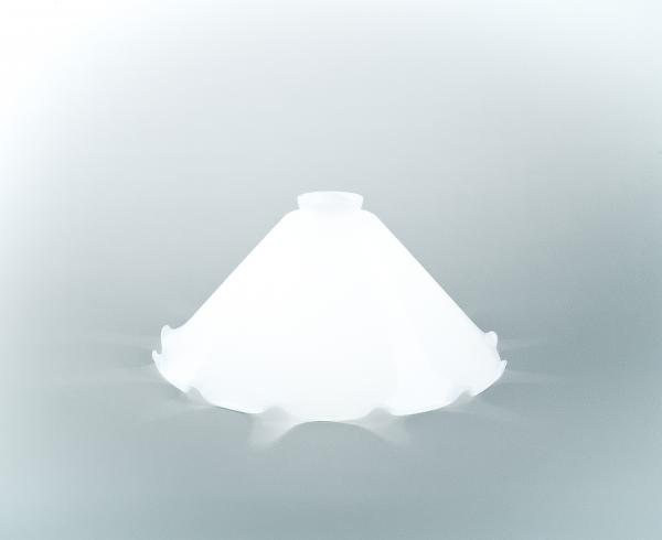 Glasschirm 37 Opalweiß