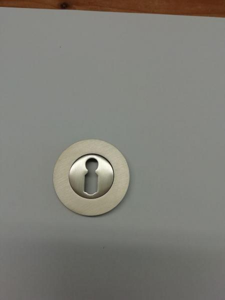 Schlüsselrosette BB Nickel matt