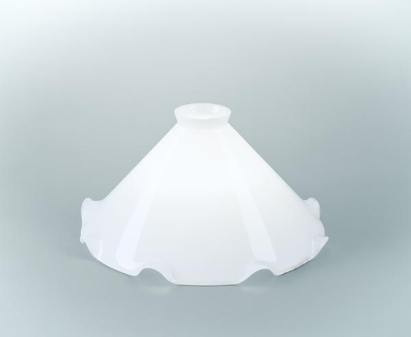 Glasschirm 27 Opalweiß