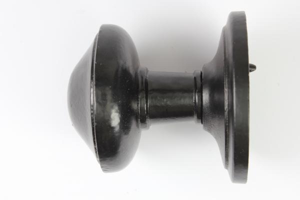 Türknauf aus massivem Eisen matt schwarz pulverbeschichtet