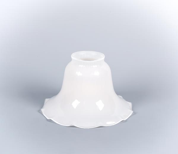 Glasschirm 05op Opalweiß