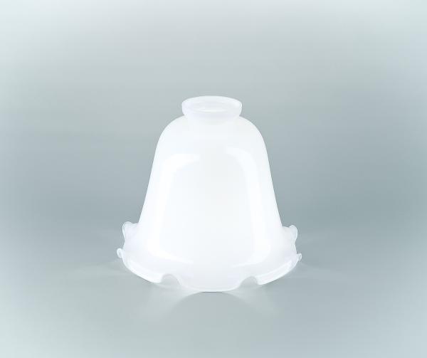 Glasschirm 20 Opalweiß
