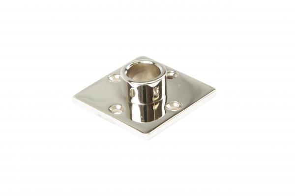 Drückerrosette Nickel Glanz