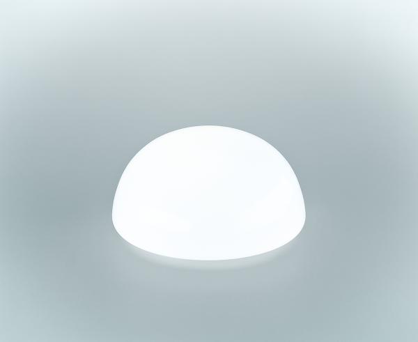 Glasschirm 134 Opalweiß