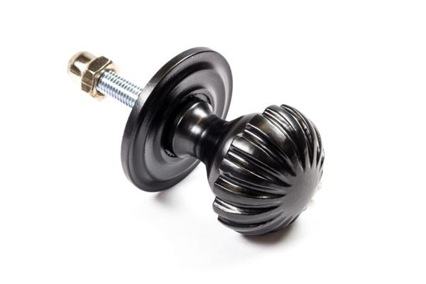 Türknauf aus massivem Eisen schwarz pulverbeschichtet