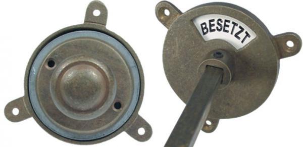 Toilettenverschluss mit Knopf