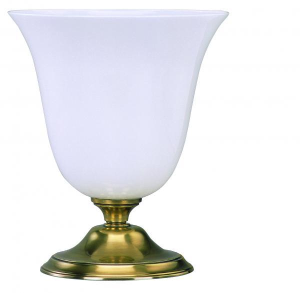 Tischleuchte - Glasschirm weiß