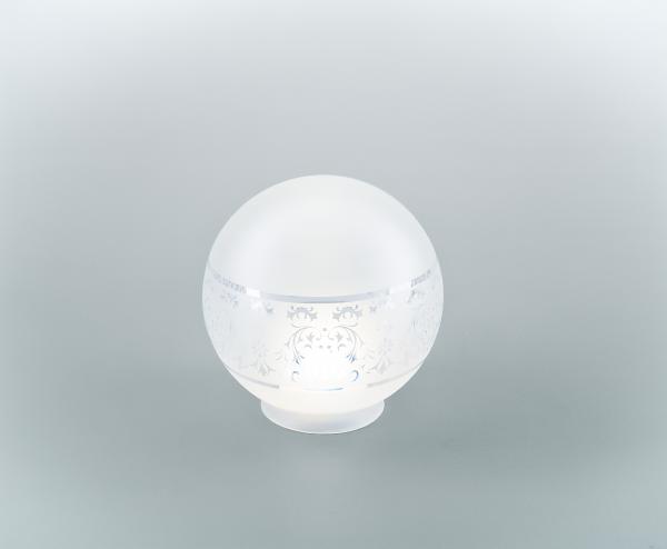 Glasschirm 115 Geätztes Dekor