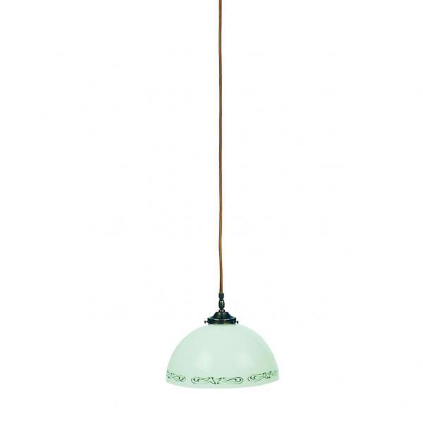 Pendelleuchte - Glasschirm grün-weiß