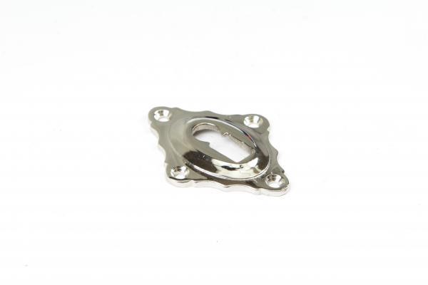 Schlüsselrosette Buntbart Nickel Glanz