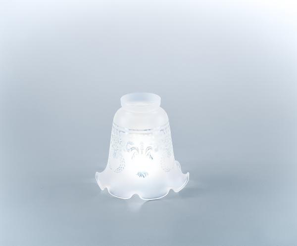 Glasschirm 03ae Geätztes Dekor